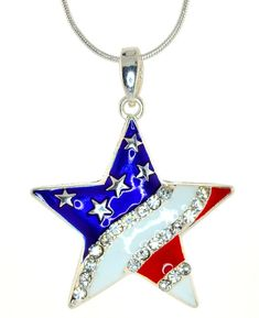 Mevoi of July Independence Day American Flag Star Pendant Necklace and Earrings Set -- Look into the photo by visiting the web link. (This is an affiliate link). Star Pendant, Pendant Necklace, American Flag Stars, Patriotic Crafts, Red White Blue, Independence Day, Earring Set, 4th Of July, Jewelry Sets