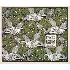 Koloman Moser 1901 'Frau Nolda' textile design,