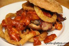 Peachy Western Bacon Cheeseburger Recipe