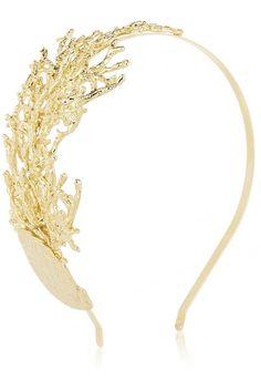 Rosantica - Diadema con coral lateral de oro