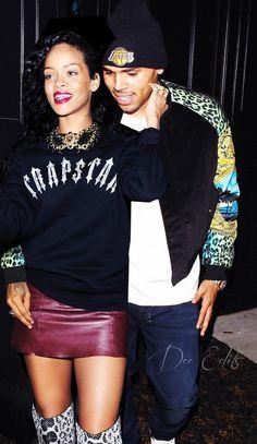 Chris Brown and Rihanna                                                                                                                                                                                 More