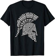 Spartan Warrior Shirt by Scar Design.  #spartan #spartans #spartanrace #greek #greece #300spartans #tee #teeshirt #clothing Warrior Helmet, Spartan Warrior, Greek Warrior, Warriors T Shirt, Gym Shirts, Ancient Greek, Branded T Shirts, Tees, Mens Tops