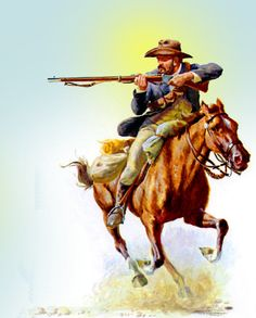 Boer horseman Military Art, Military History, South Afrika, Native American Wisdom, Cowboy Art, Horse Drawings, Comic Pictures, Le Far West, British Colonial