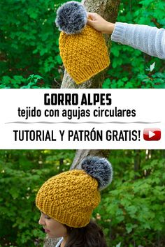 The Alpes Knitting Hat! Free Video tutorial for this beautiful knitting beanie, beginner friendly! Knitting Blogs, Easy Knitting Patterns, Loom Knitting, Knitting Projects, Knitting Needles, Free Knitting, Diy Crochet, Crochet Hooks, Types Of Stitches