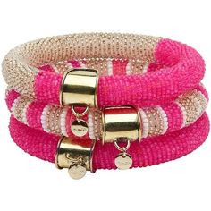 cute pink and gold bangles Pink Love, Pretty In Pink, Hot Pink, Bling Bling, Magenta, Gucci, Cartier Love Bracelet, Chanel, Pink Fashion