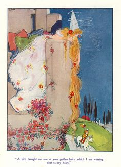 Rapunzel   Hilda Cowham illustration by ElfGoblin, via Flickr