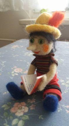 Pinokio zrobiony przeze mnie metodą filcowania na sucho.