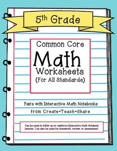 math worksheet : 1000 images about 5th grade math on pinterest  5th grades  : 5th Grade Math Common Core Worksheets