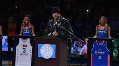Allen Iverson's No. 3 retired by Philadelphia 76ers.