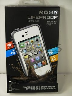 New Lifeproof iPhone 4 4S WaterProof Case White compare2 otterbox on eBay!