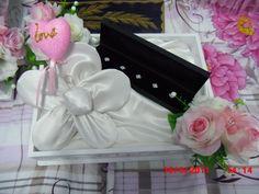 Hantaran for my fiance - Kain baju melayu folded into flower