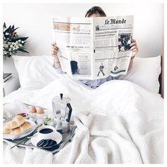 pinterest & ig: kadircemm Relaxing morning in bed
