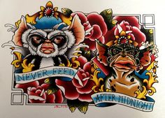 Great Gremlin Tattoo Idea