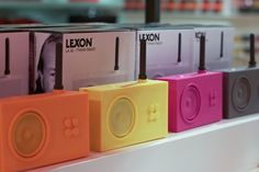 Marc Berthier's funky, rubber-clad Tykho radios at The Conran Holiday Shop