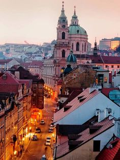 Dusk, Prague, Czech Republic