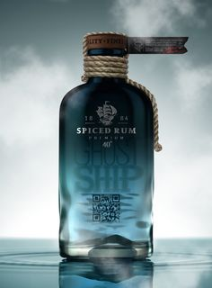 Existiert dieses Produkt überhaupt oder alles nur Photoshop? Ghost Ship Rum, by Pavla Chuykina & Galima Akhmetzyanova Beverage Packaging, Bottle Packaging, Cool Packaging, Brand Packaging, Alcohol Bottles, Liquor Bottles, Drink Bottles, Label Design, Branding Design