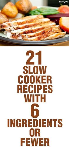 You'll have dinner on the table in no time with these 21 Slow Cooker Recipes with 6 Ingredients or Fewer!