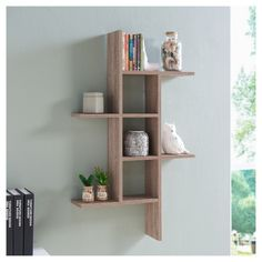 Danya B Cantilever Wall Shelf In Weathered Oak - The Danya B MDF Cantilever Wall Shelf is perfect for dressing up a dull corner. This simple wall shelf can be hung vertically or horizontally, making it perfect for virtually any indoor living space. Floating Wall Shelves, Wall Shelves Design, Wall Shelving, Unique Wall Shelves, Shelving Ideas, Diy Wall, Wall Decor, Room Decor, Weathered Oak