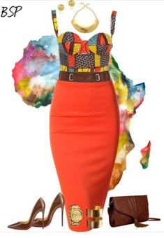 ♥African Fashion % Created in the Polyvore