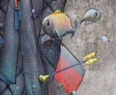 Street Art by Liliwenn & Bom K in Brest City, France 7