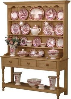 Medium dresser with Mulberry and Sovereign Red china