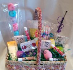 Mary Kay Easter basket. Each one of these awesome Mk items in this basket cost only $10! Perfect for your girly girl! Let me know how I can help you.