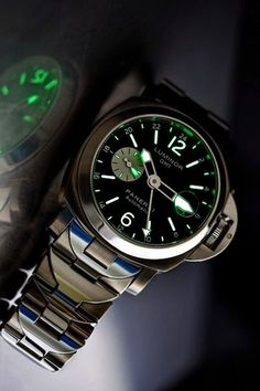 Panerai Luminor GMT. This is a man's watch and at 44mm dial, it is a little big for me, but I would totally wear it.