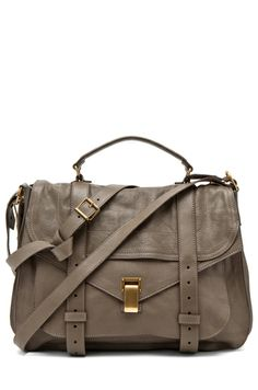 Proenza Schouler PS1 Extra Large Leather in Smoke