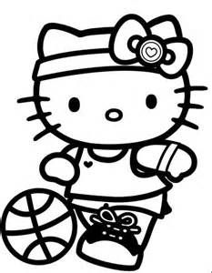 Free coloring pages of hello kitty devil