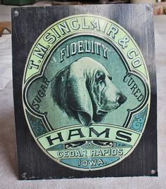 Items similar to Sinclair & Co Fidelity Hams vintage tin sign on Etsy