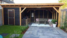 Backyard Office, Small Backyard Patio, Backyard Sheds, Backyard Patio Designs, Pergola Patio, Backyard Landscaping, Small City Garden, Garden Spaces, Barn Style House Plans