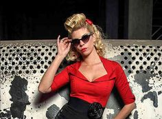 amazing 50's Red Top - Hulahup by R&B Vintage Clothing in Retroterest. Read more: http://retroterest.com/pin/50s-red-top-hulahup/