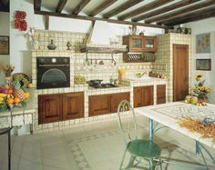 Mexican Kitchen Decor, Mexican Kitchens, Indian Kitchen, Cozy Kitchen, Rustic Kitchen, Beach House Decor, Diy Home Decor, Kitchen Interior, Kitchen Design