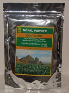 Nopal Powder - 100% Pure High Mountain Grown & Sun-Dried, 335g  Great with blended juices or smoothies ....