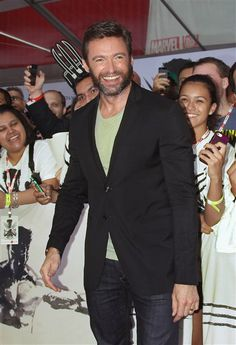 """Hello, hairy hottie! #HughJackman attends a fan event for """"The #Wolverine"""" in New York. See more celebs on Wonderwall: http://on-msn.com/13xYNm2"""