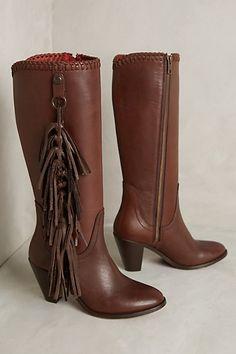 Trask Fringe-Tassel Tall Boots - anthropologie.com