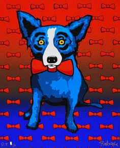 Blue Dog Does the Red Tie PP 2000. Love me a pointer but want me a blue dog