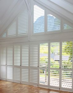 Atrium Windows, Blinds For Windows, Curtains With Blinds, Windows And Doors, Draperies, Valances, White Shutters, Window Shutters, Window Wall