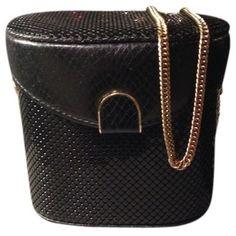 Pre-owned Whiting & Davis Rare & Snakeskin Sequin Frame Box Handbag... ($215) ❤ liked on Polyvore