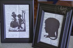 Fun with Silhouette Pictures and Painted Frames - Holiday Craft Project