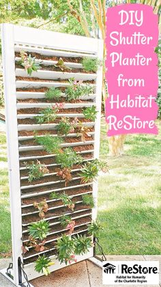 Easy Garden, Lawn And Garden, Garden Art, Garden Design, Diy Garden Projects, Outdoor Projects, Outdoor Plants, Outdoor Gardens, Diy Shutters