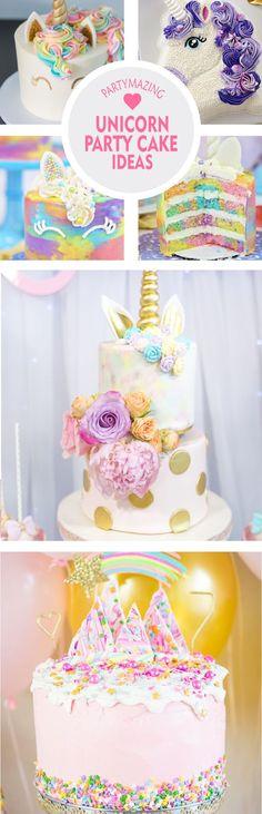 12 Awesome Unicorn Cake Ideas Unicorns are a popular party theme among children these days, especially young girls. Diy Unicorn Birthday Cake, Diy Unicorn Party, Unicorn Birthday Parties, Birthday Party Themes, Birthday Cakes, Unicorn Cakes, Themed Parties, Mermaid Birthday, 9th Birthday