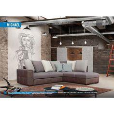 Michael ágyazható sarok ülőgarnitúra (Simple System) 263 cm X 209 cm - jobbos Minion, Couch, Simple, Shop, Furniture, Modern, Home Decor, Settee, Trendy Tree