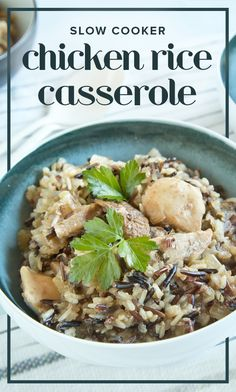 Use a crockpot to make this easy dinner of chicken and rice casserole.