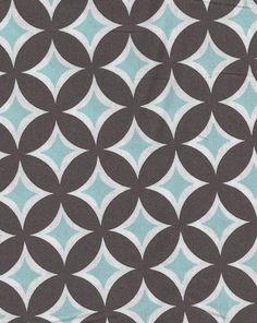 Tonic Living,Tweedle Dee Tile, Sea,100% Combed Cotton,Retro futon covers, retro fabric and pillows