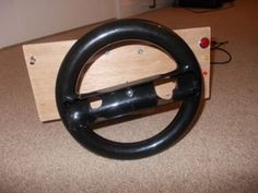 Homemade Pc Steering Wheel: 31 Steps (with Pictures) Small Hinges, Retro Arcade, Full Throttle, Homemade, Pictures, Photos, Home Made, Grimm, Hand Made