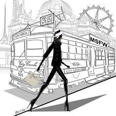 Melbourne Spring Fashion Week ... Tiffany La Belle Art & Illustration