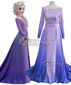 Costumes Pls email us if you need the costume, wig, shoes, weapon or other accessories of this chara Disney Frozen 2, Elsa Frozen, Anna Dress Frozen, Frozen Outfits, Pakistani Dresses, Ladies Day, Purple Dress, Ball Gowns, Casual Dresses