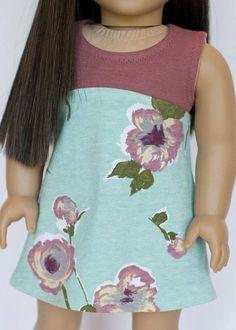 American Girl doll sized tri-city knit dress dusty rose