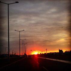 Eliza's K photos | On the road.. #sky #sun #igers #igersgreece...